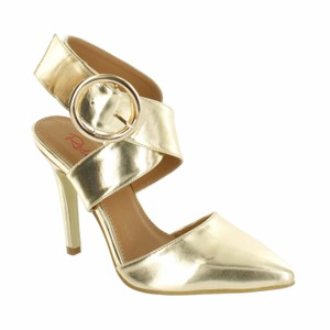 Red Circle Footwear Gold Pumps