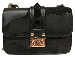 Valentino Rockstud Studded Camouflage Leather Suede Cross Body Bag