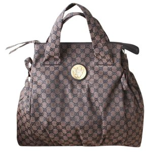 Gucci Gg Canvas Hysteria Top Satchel in Brown