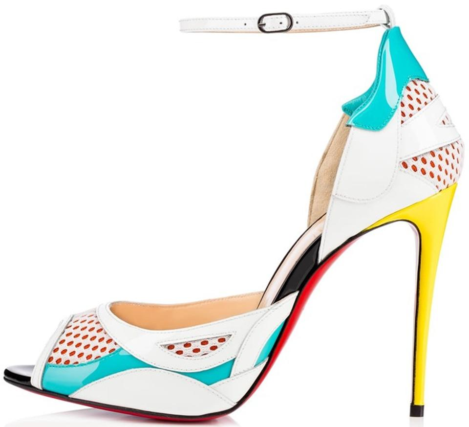 81628828fd23 Christian Louboutin Multicolor Discodeporte 100 Red Sole 36.5 Pumps ...