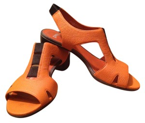 Camper T-strap Beth New In Box Leather Comfortable Orange Sandals