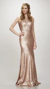 Theia Matte Rose Gold Gemma Style #: 910125 Dress