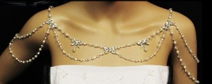 Crystal Rhinestone And Pearl Shoulder Jewelry