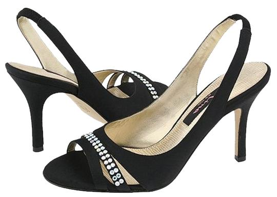 Nina Shoes Prom Party Sparkle Strappy Black/silver Formal