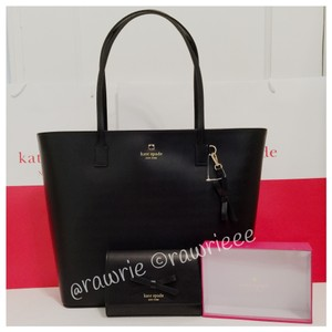 Kate Spade Set Gift Set Matching Set Leather Set And Wallet Set Tote in Black