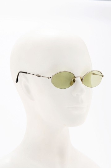 Byblos Byblos Authentic Plastic Silver Oval Light Green Vintage Sunglasses