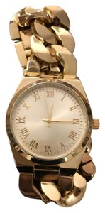 Other Gold chain link woman's wrist watch