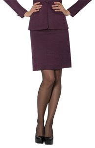 Miss Pearl Silk/Wool Pique Suit Skirt