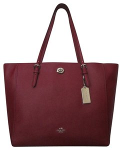 Coach Tote in red current