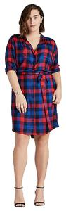 Lucky Brand short dress Red Blue on Tradesy