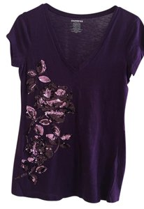 Express T Shirt Purple