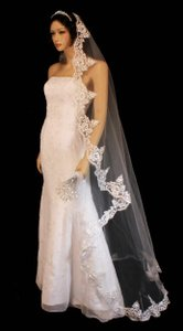 Lace Mantilla Floor Length Wedding Veil