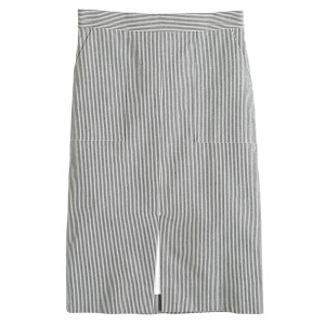 J.Crew Knee-length Skirt Navy Stripe