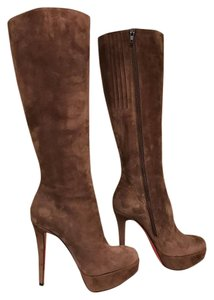 Christian Louboutin Bianca Stiletto Suede Platform brown Boots