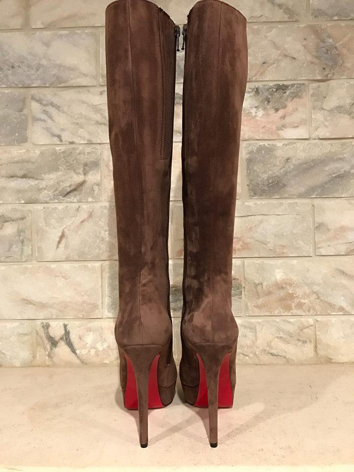 744b3461c00 Christian Louboutin Brown Bianca Botta 140 Tan Platform Heel 42 ...