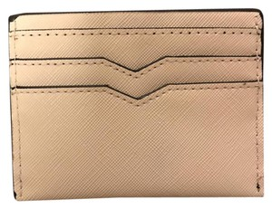 Forever 21 Leather Soft Pink Chanel Wristlet in Tan