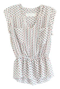 Anthropologie Top White, Red, Blue