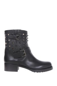 Valentino Leather Black Boots