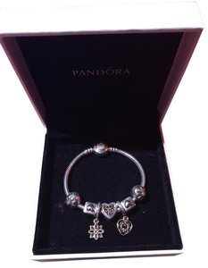PANDORA Pandora two-tone bracelet with charms size 16