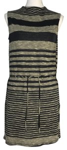 Anthropologie short dress Gray and Blue Stripes Navy on Tradesy