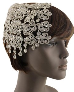 Other Women Trendy Silver Metal Head Piece Pin Hair Wedding Jewelry