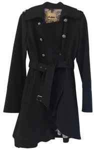 Guess By Marciano Military Ruffle Trench Trench Coat