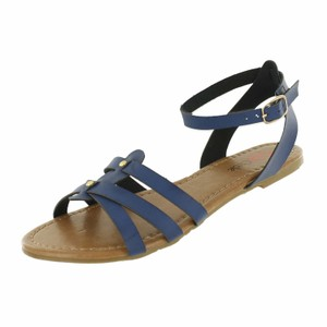 Red Circle Footwear Navy Sandals