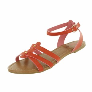 Red Circle Footwear Red Sandals