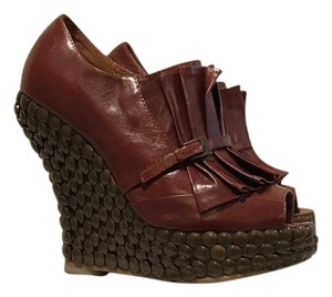 Jeffrey Campbell Platform Brown Wedges