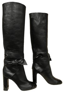 Chanel Leather Heel Runway Limited Edition black Boots