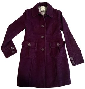Tulle Nordstrom Buttons Tweed Eggplant Pea Coat
