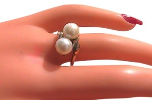 Other 10k Yellow Gold Natural Pearl Ring