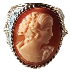 AMEDEO Vintage Amadeo Cornelian Shell Cameo Ring Size 8