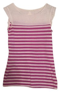 Lilly Pulitzer Top Purple and White Stripped