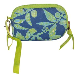 Lilly Pulitzer Tech Case Nautical Shell Brand Wristlet in Green