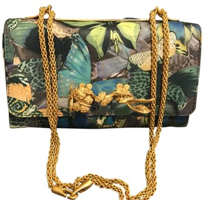 Valentino Va-Va-Voom Laser-Cut Camo Butterfly Bag w/ Knuckle Handle Shoulder Bag