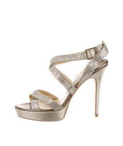 Jimmy Choo Silver / Gold Sandals