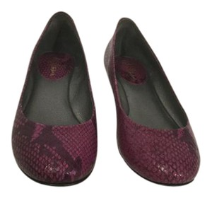 Cole Haan Snake Pattern Purple embossed leather padded insoles NikeAir Flats