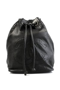 Chanel Vintage Bucket Backpack Lambskin Shoulder Bag