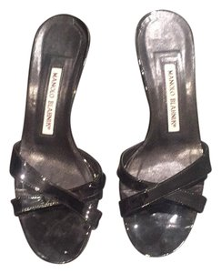 Manolo Blahnik Black patent Sandals
