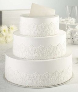 White 3 Tier Cream Lace Cake Keepsake Card Box