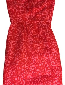 J.Crew short dress red and pink on Tradesy