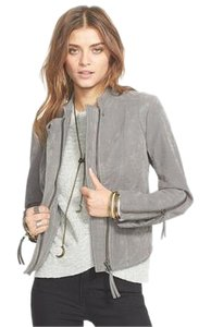 Free People Vegan Leather Grey Leather Jacket