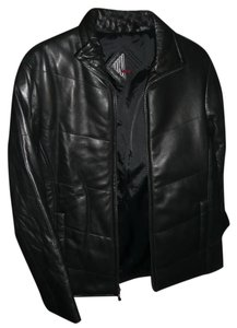 Tibor Leather Bomber-style black Leather Jacket