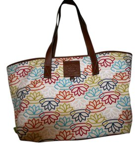 Lily Bloom Colorful Silver Hardware Tote in multi