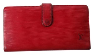 Louis Vuitton Red Epi Leather Kisslock Wallet