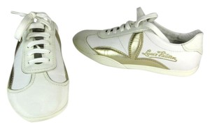 Louis Vuitton Lv Logo Leather White Sneaker Athletic