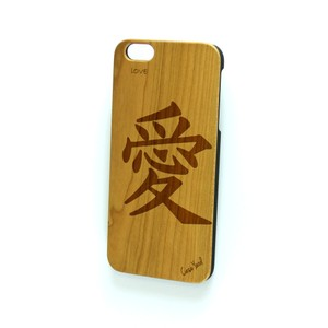Case Yard NEW Cherry Wood iPhone Case with Japanese Love Symbol, iPhone 6+/6s+