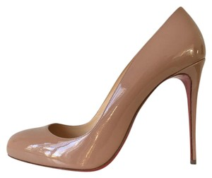 Christian Louboutin Dorissima So Kate Pigalle Follies Patent Leather Nude Pumps