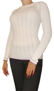 Dolce&Gabbana Light Knit Ribbed Couture Colorblock Sweater